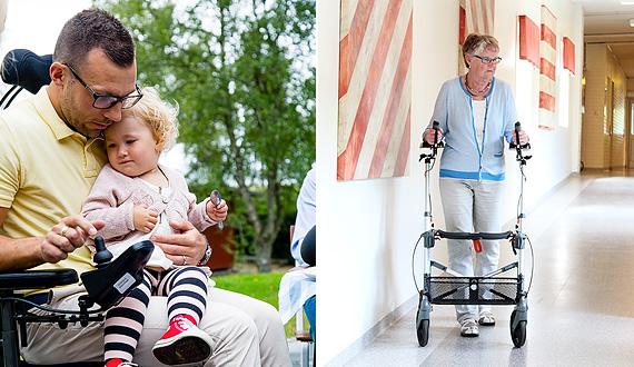 Elektriske kørestole og rollatorer