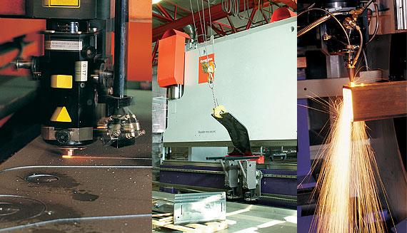 Laser cutting, bending