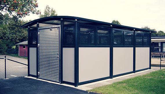 Waste separation shed