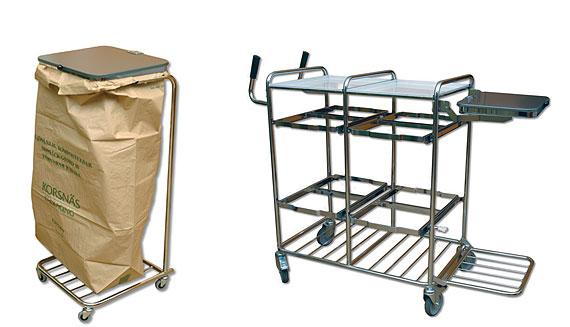 Refuse sack holder & cart