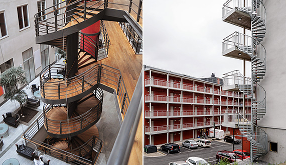 Spiral staircases for indoors and outdoors application