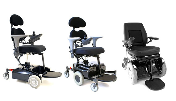 Electrically driven wheelchairs