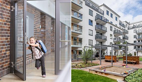 Aluminiumtüren und Balkone