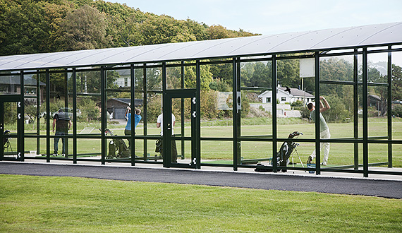 Shelter for driving range