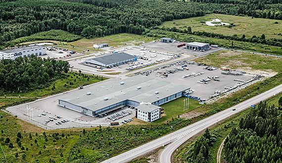 Weland Aluminium in Alvesta - avd. utemiljö