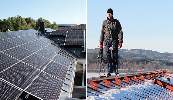Systems for solar panels and roof safety